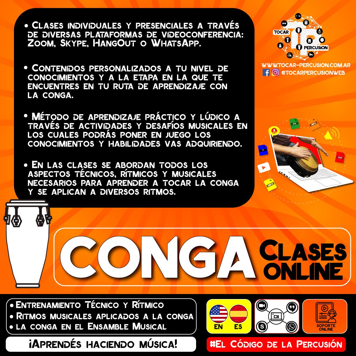 Clases Online de Congas