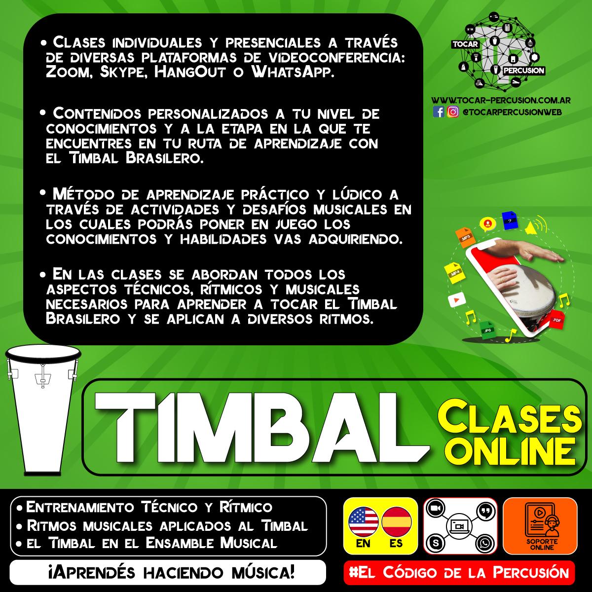 Clases Online de Timbal Brasilero